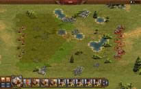 Troops in a strategic battle